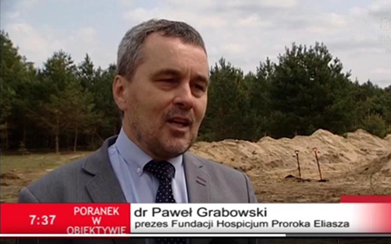 """Uroczyste wbicie """"pierwszej łopaty"""" naantenie TVP3 Białystok"""