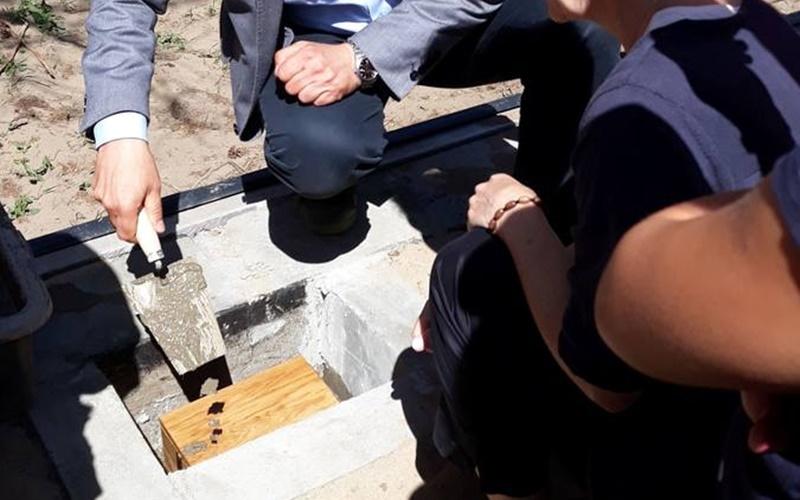 Kurier Poranny owmurowaniu kamienia węgielnego podbudowę hospicjum