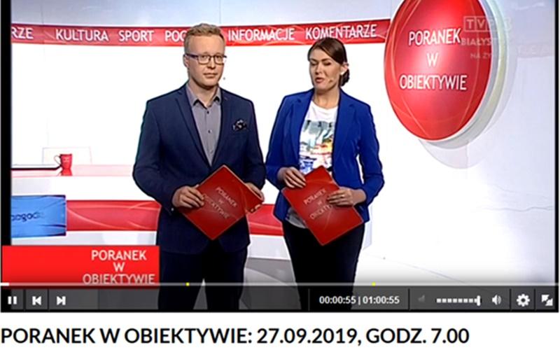 DrGrabowski wPoranku wObiektywie naantenie TVP3 Białystok